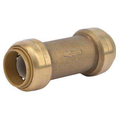 3/4 in. Brass Push-to-Connect Check Valve