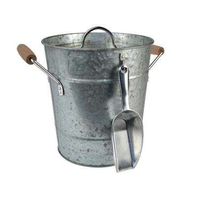 Galvanized Ice Bucket with Liner and Scoop