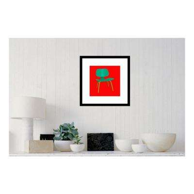 19.38 in. W x 19.38 in. H Mid Century Chair III by PI Studio Printed Framed Wall Art