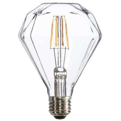 25W Equivalent Warm White Facet Dimmable LED Light Bulbs (6-Pack)