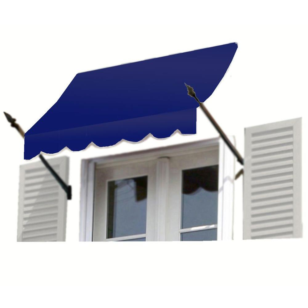 AWNTECH 18 ft. New Orleans Awning (56 in. H x 32 in. D) in Navy