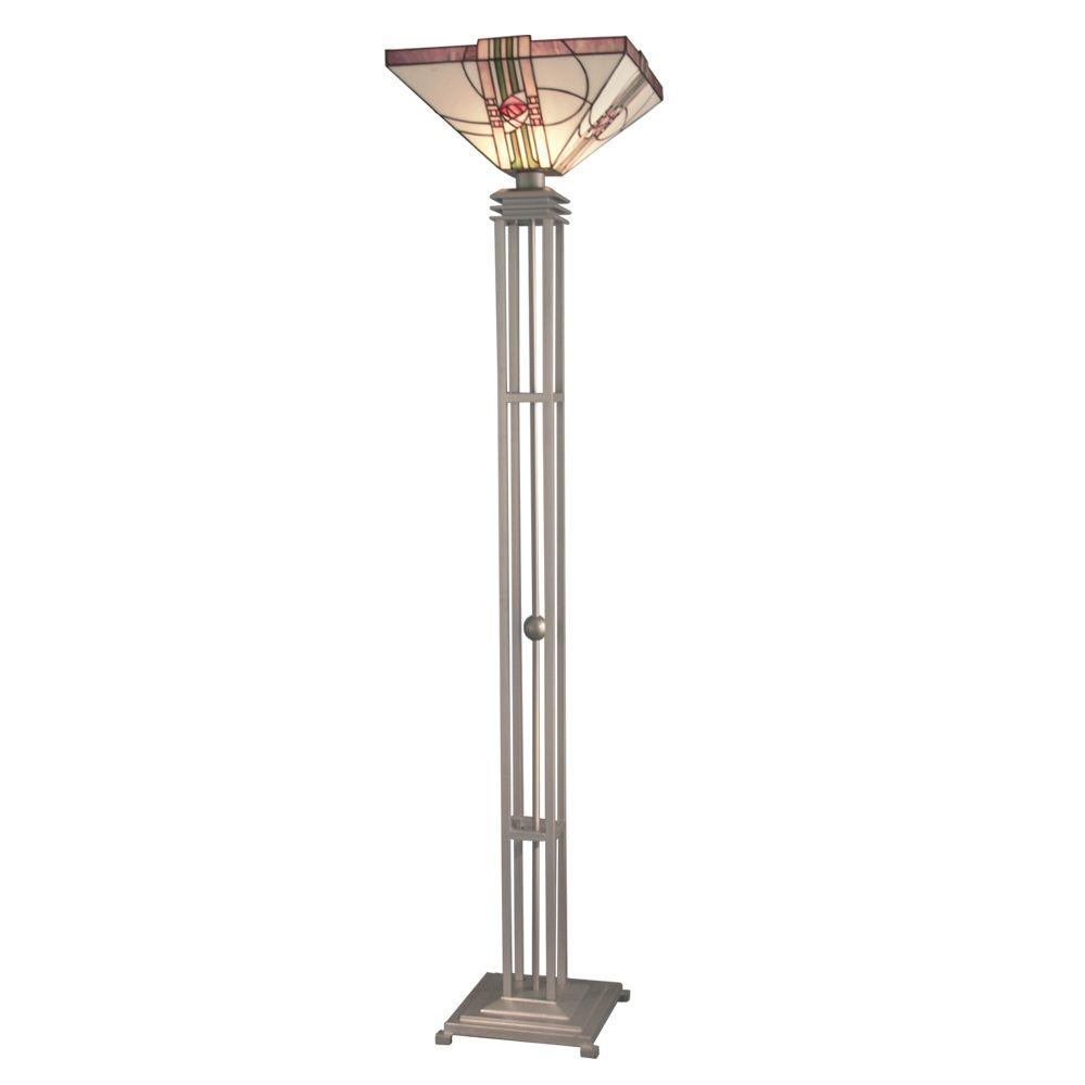 Dale Tiffany Rose Scroll Floor Torchiere-DISCONTINUED
