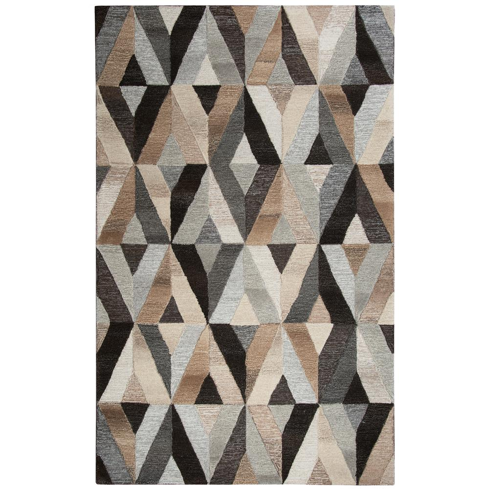 Rizzy home suffolk multicolor geometric 10 ft x 13 ft for Geometric print area rugs