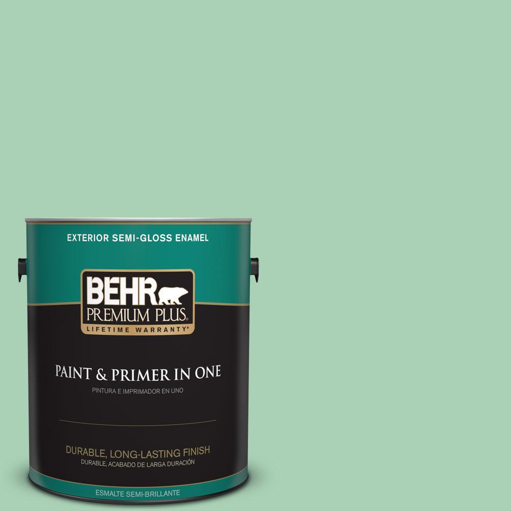 1-gal. #460D-4 Aloe Essence Semi-Gloss Enamel Exterior Paint
