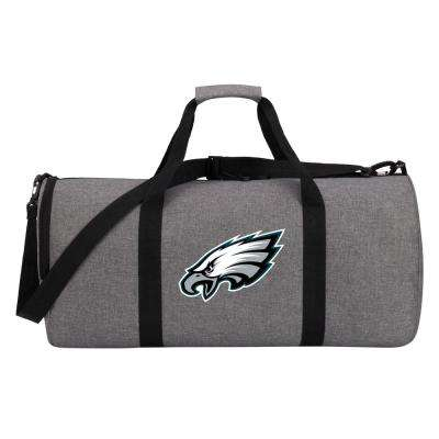 Eagles Wingman 10 in. Heathered Gray Duffle Bag