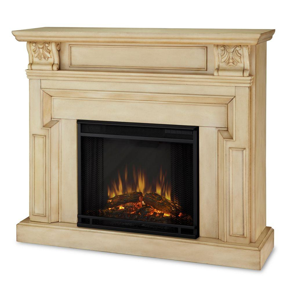 Real Flame Kristine 46 in. Electric Fireplace in Antique White-DISCONTINUED