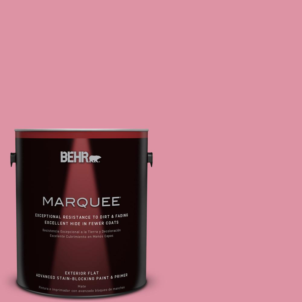 BEHR MARQUEE 1-gal. #120C-3 Rose Marquis Flat Exterior Paint