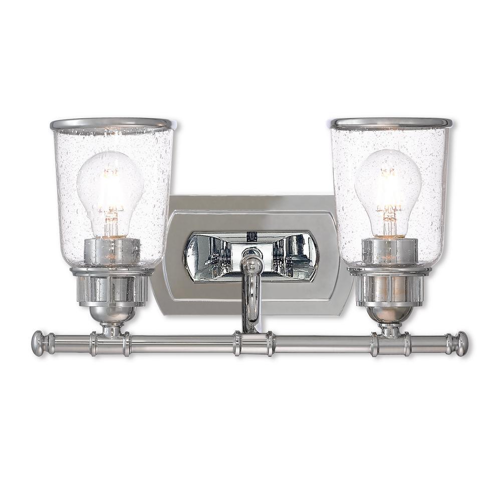 Lawrenceville 2-Light Polished Chrome Bath Light