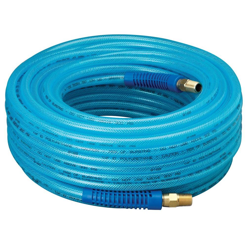 Amflo 1/4 in. x 100 ft. Polyurethane Air Hose with Field Repairable Ends