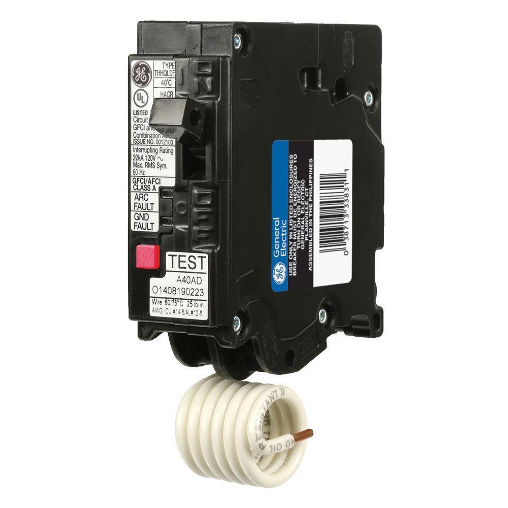 Q-Line 15 Amp Single-Pole Dual Function Arc Fault/GFCI Breaker