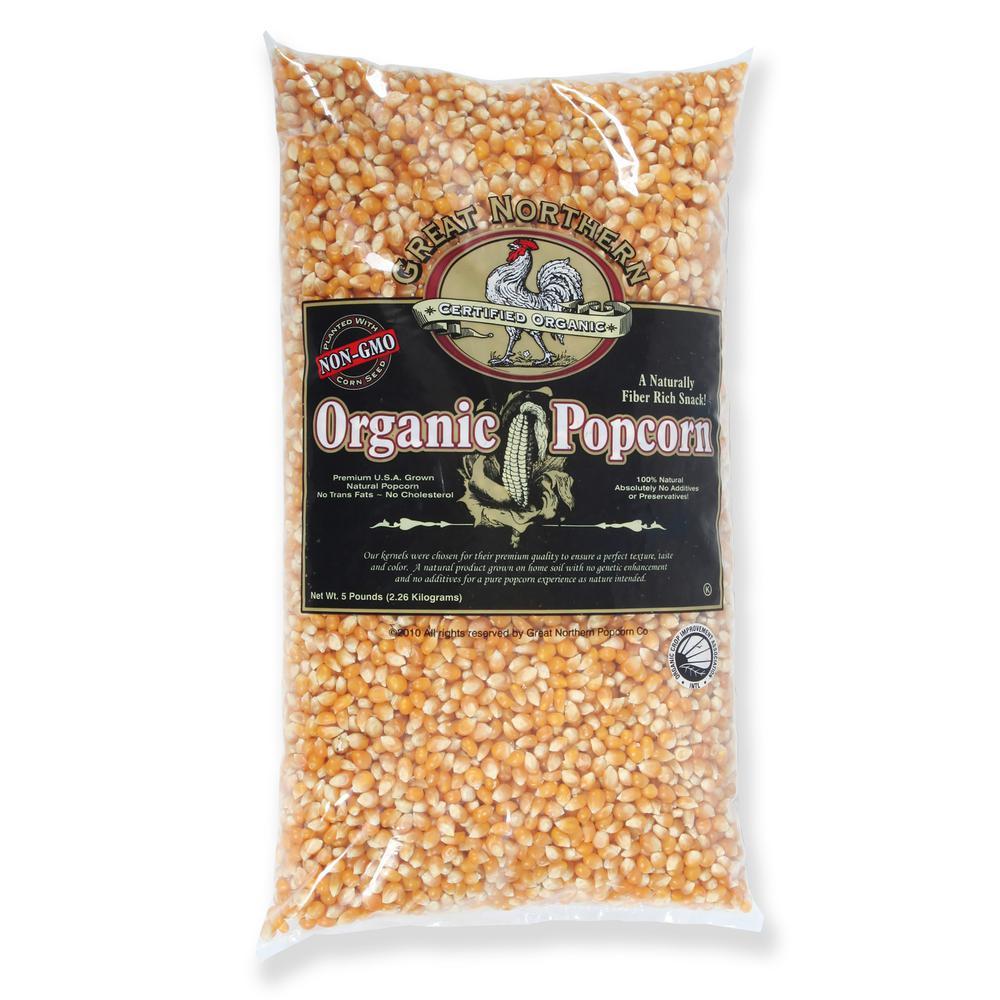 5 lb. All-Natural Organic Yellow Gourmet Popcorn