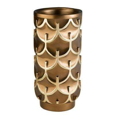 7 in. W x 14.25 in. H Mystic Owl Decorative Vase in Gold