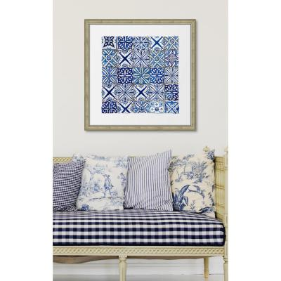 """28 in. x 28 in. """"Ancient Tiles II"""" Framed Giclee Print Wall Art"""