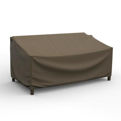Budge NeverWet Mojave Small Black Ivory Patio Sofa Cover ...
