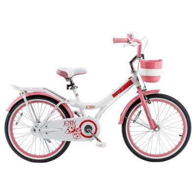 Jenny Princess Pink Girl's Bike with Kickstand and basket, 20 in. Wheels