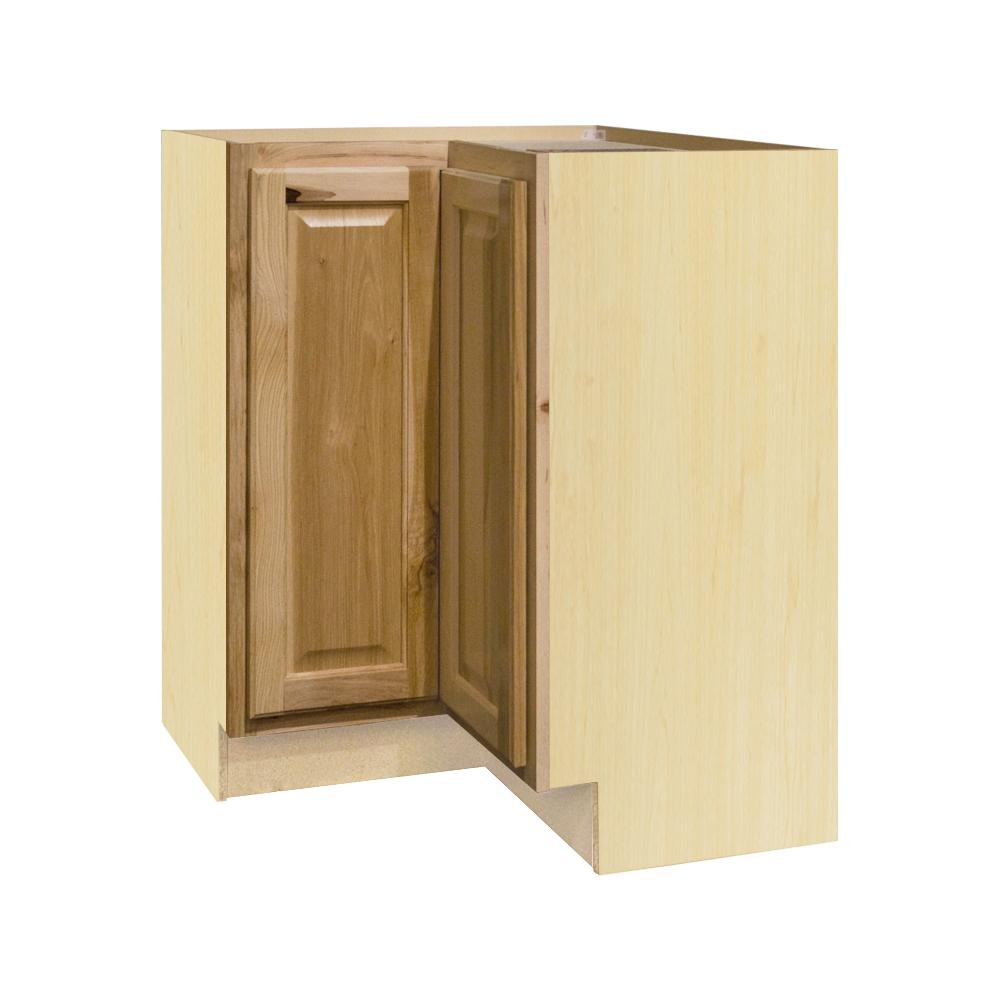 Hampton Assembled 28.5x34.5x16.5in. Lazy Susan Corner Base Kitchen Cabinet  In