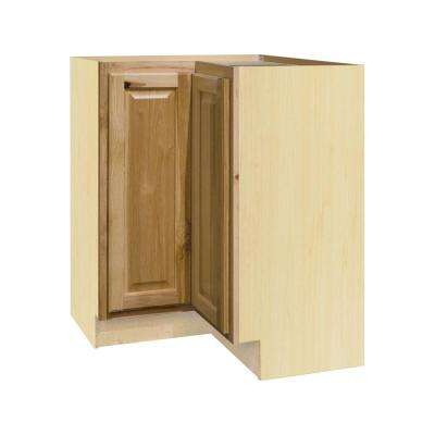 Hampton Bay Hampton Assembled 28.5x34.5x16.5in. Lazy Susan Corner Base Kitchen Cabinet in Natural Hickory by Hampton Bay