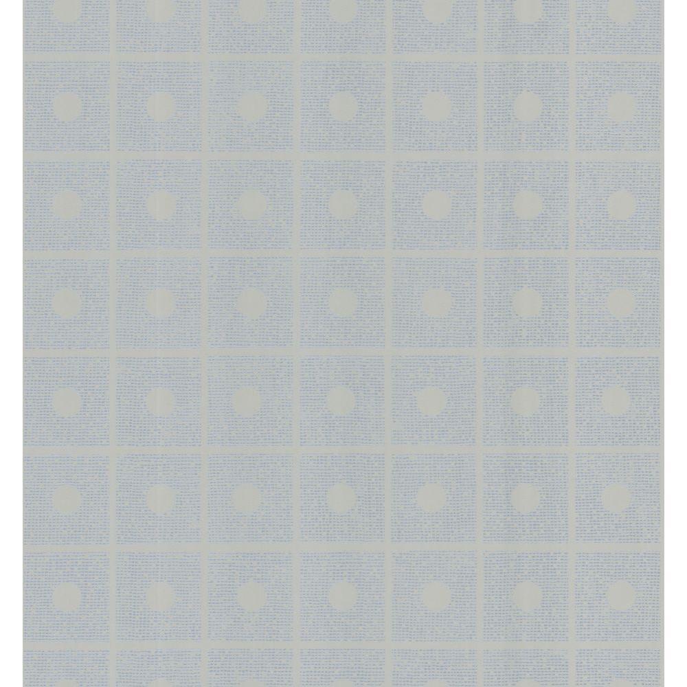 Brewster Simple Space Light Gray Domino Wallpaper Sample 141-62156SAM