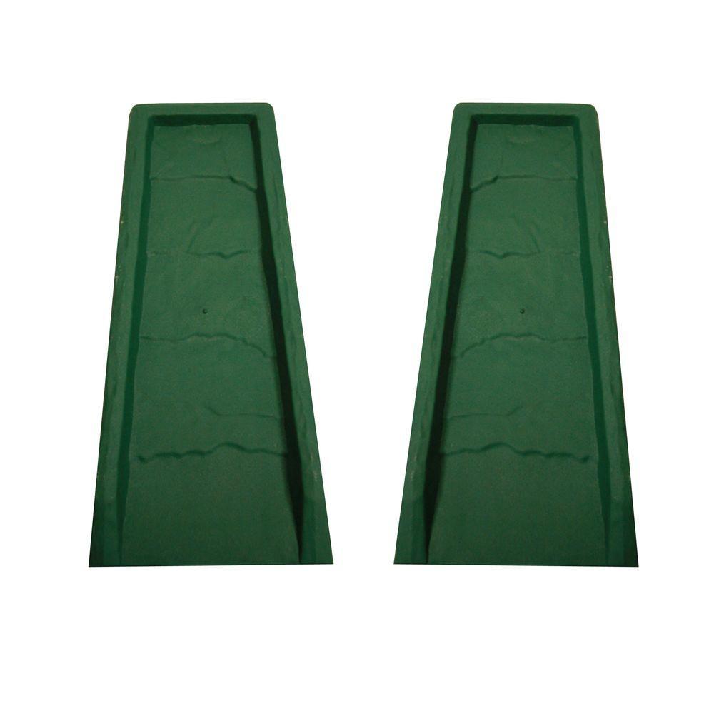 Block Green Gutter Down Spout Splash (2-Pack)