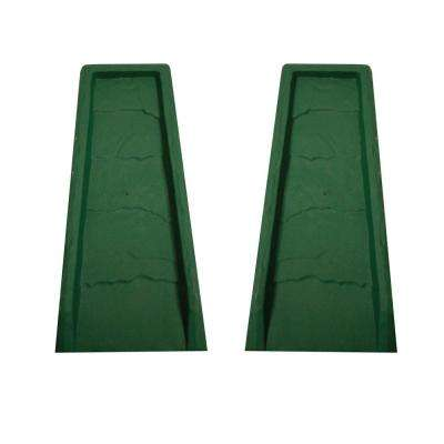 Block Green Gutter Down Spout Splash (2-Pack)