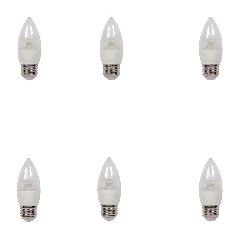 40W Equivalent Warm White B11 Dimmable LED Light Bulb (6-Pack)