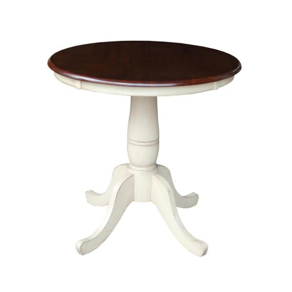 International Concepts Almond and Espresso Dining Table K12-36RT