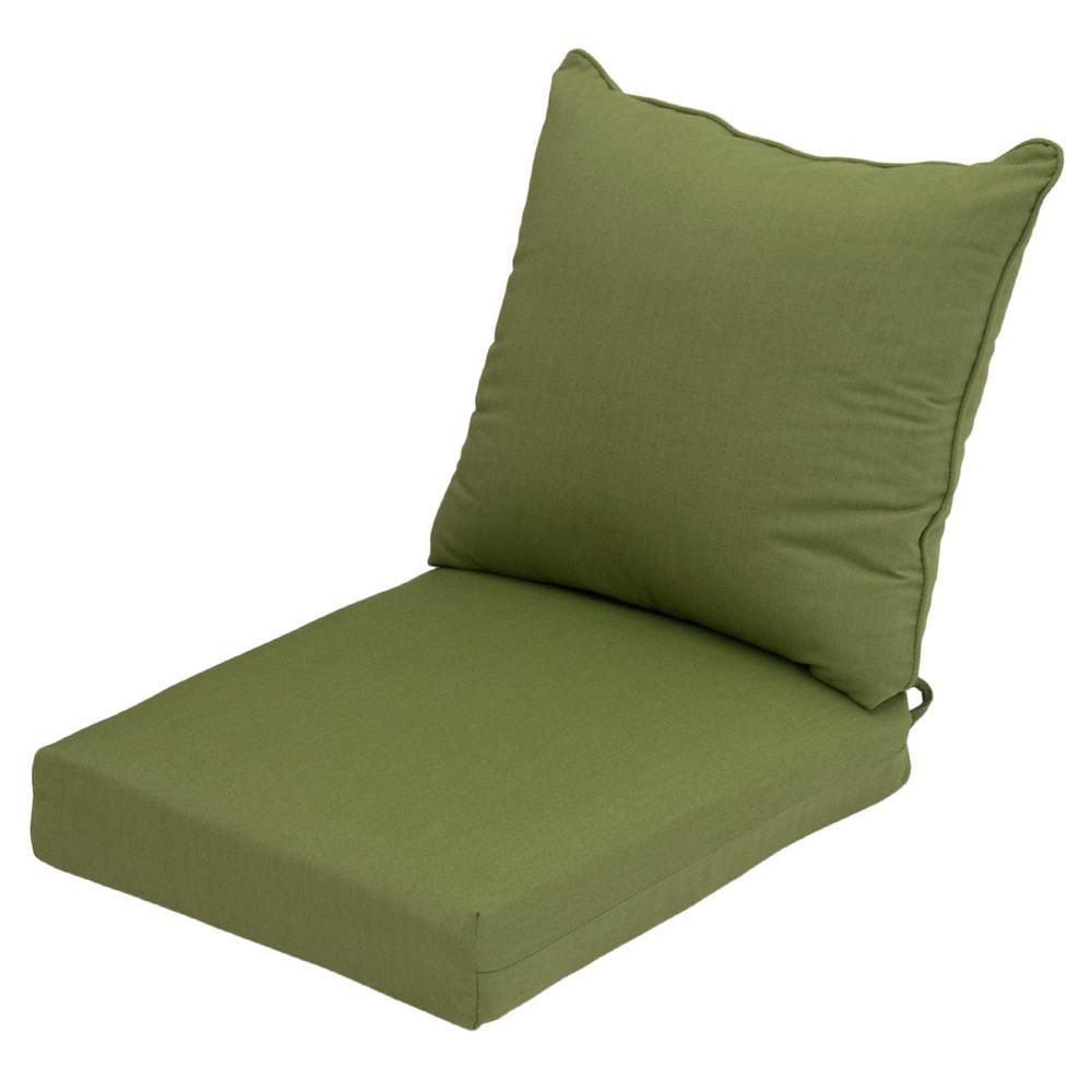 Sunbrella Spectrum Cilantro 2-Piece Deep Seating Outdoor Lounge Chair Cushion