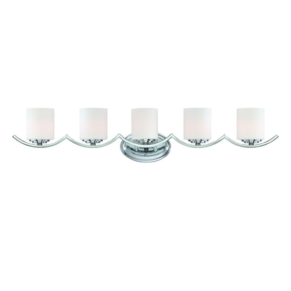 Eurofase Beam Collection 5-Light Chrome Bath Bar