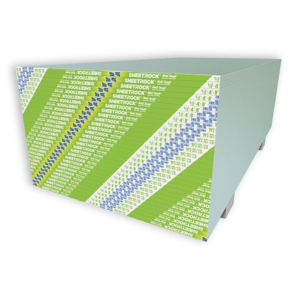Usg Sheetrock Brand 1 2 In X 4 Ft X 8 Ft Mold Tough