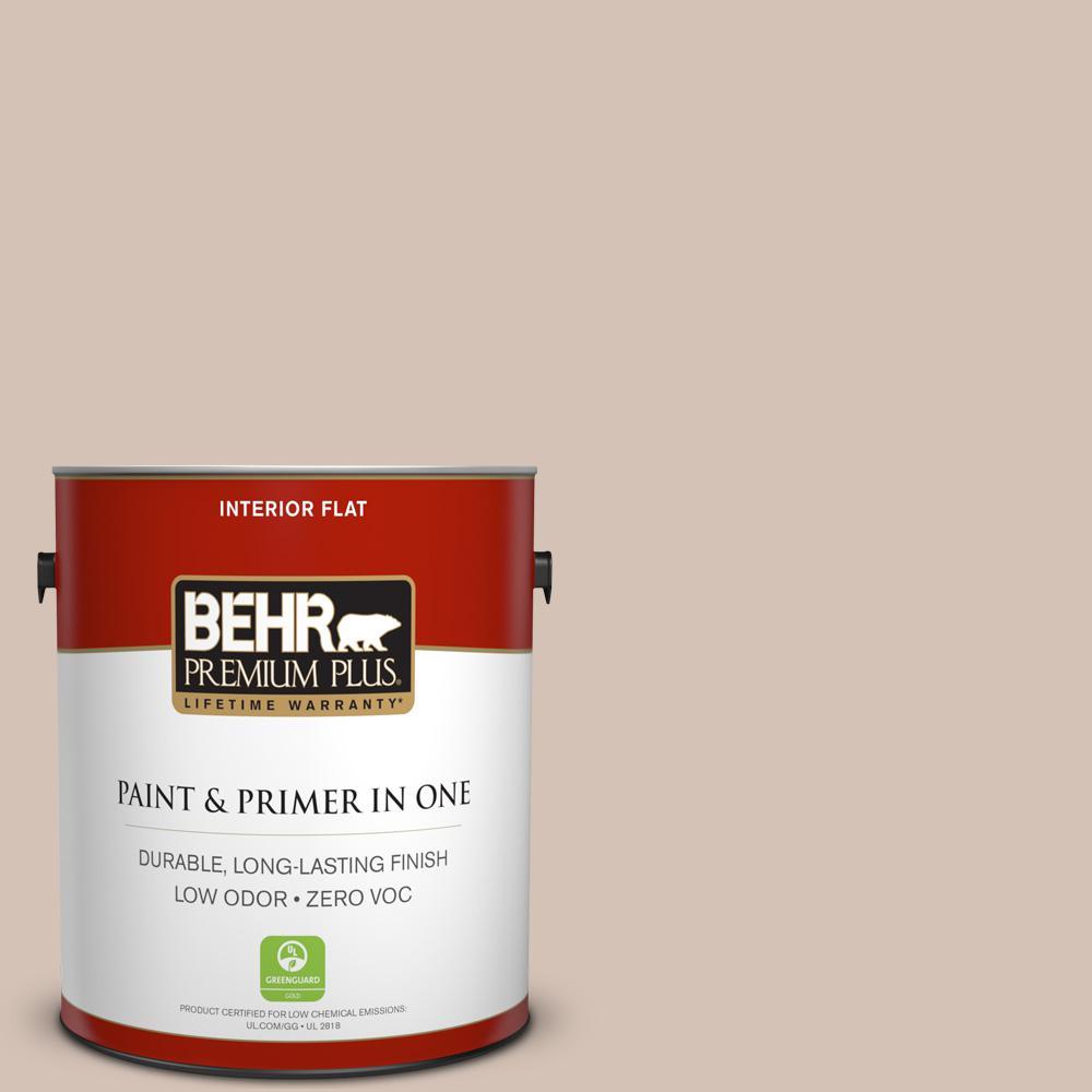BEHR Premium Plus 1-gal. #BIC-02 Hazy Taupe Flat Interior Paint