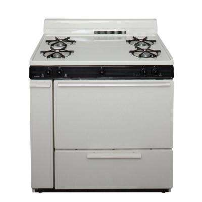 36 in. 3.91 cu. ft. Battery Spark Ignition Gas Range in Biscuit