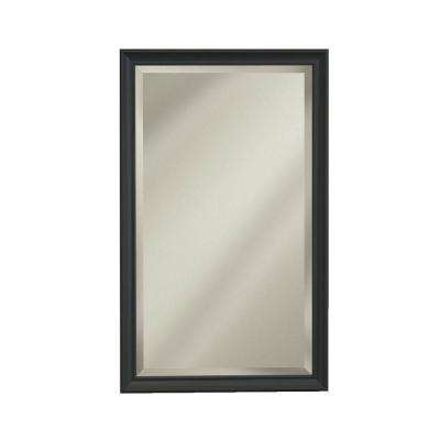 Studio V 15 in. W x 35 in. H x 5 in. D Stainless Recessed or Surface-Mount Bathroom Medicine Cabinet in Bronze Frame
