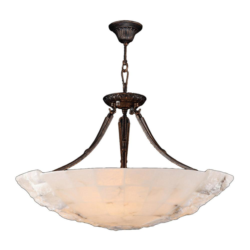 Worldwide lighting pompeii 5 light flemish brass natural quartz worldwide lighting pompeii 5 light flemish brass natural quartz large bowl pendant aloadofball Image collections