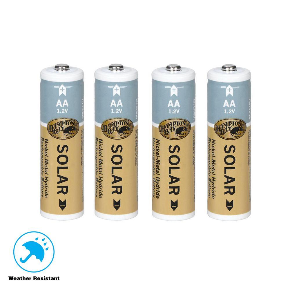 Nickel Metal Hydride 1200 mAh Solar Rechargeable Batteries (4-Pack)