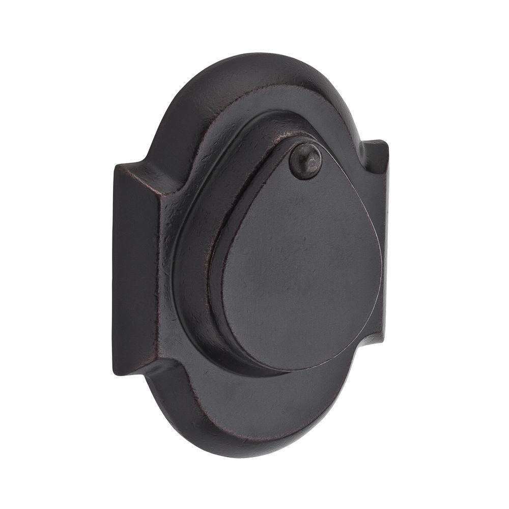 Baldwin Reserve Rustic Single Cylinder Dark Bronze Arch Deadbolt