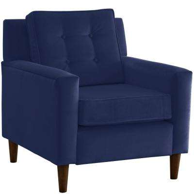Velvet Navy Arm Chair