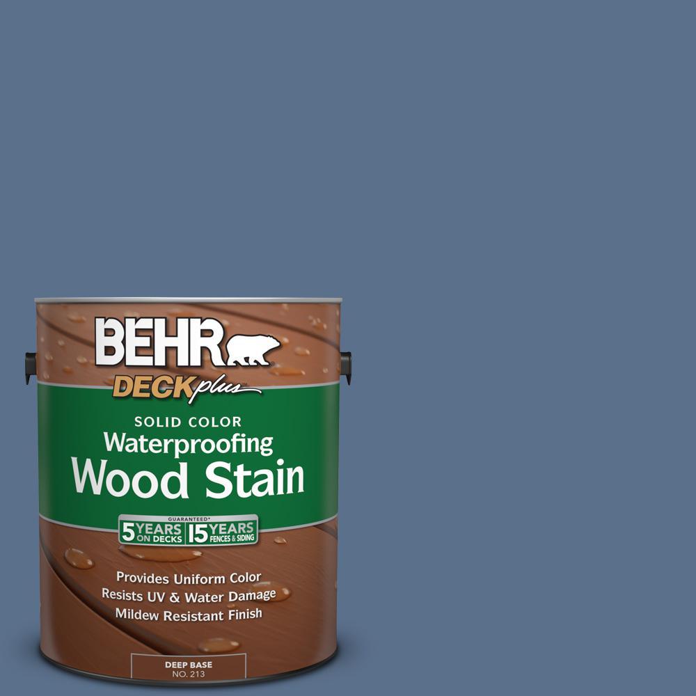 1 gal. #600F-6 Atlantic Blue Solid Color Waterproofing Wood Stain