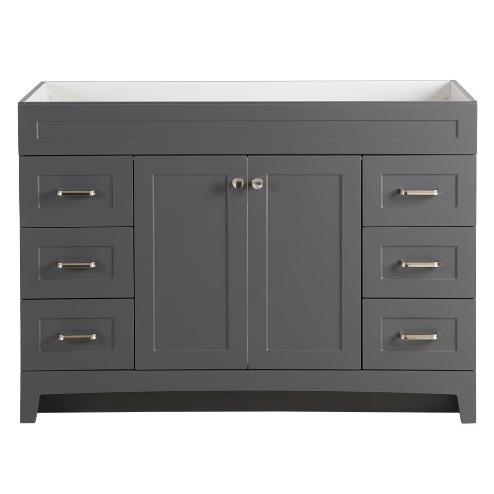 Home Decorators Collection Thornbriar 48 In W X 21 D Bathroom Vanity Cabinet Cement