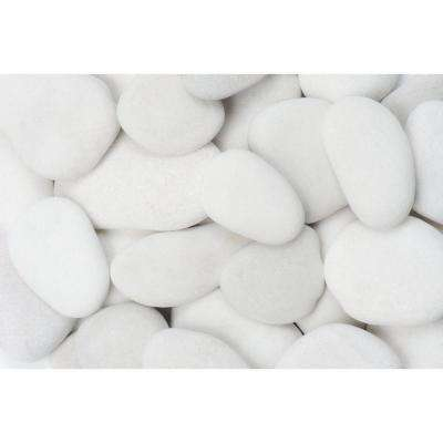 1 in. to 3 in., 2200 lb. Small Flat Egg Rock Pebbles Super Sack