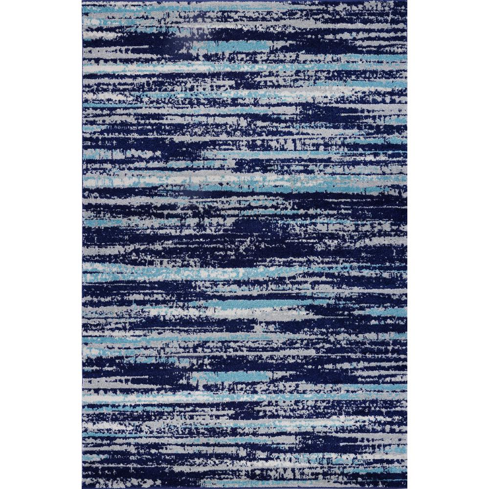 Poly And Bark Hennessy Distressed Stripe Area Rug 8 X 10 In