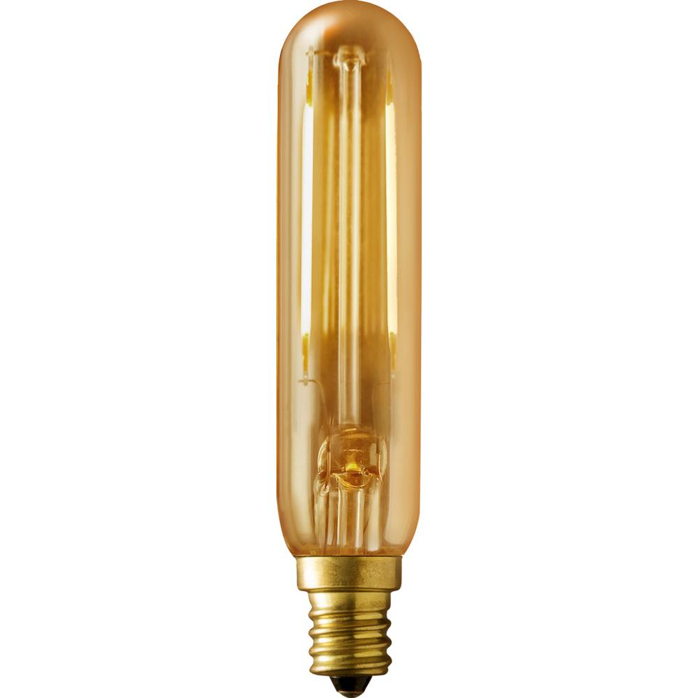 40W Equivalent Warm White T6 Amber Lens Vintage Tubular Dimmable LED