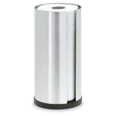 Cusi Easy Fill Counter Top Brushed Stainless Steel Paper Towel Holder