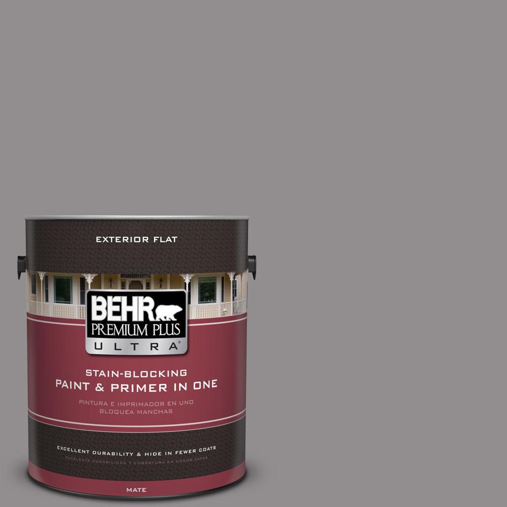 BEHR Premium Plus Ultra 1-Gal. #PPU16-14 Plum Smoke Flat Exterior Paint