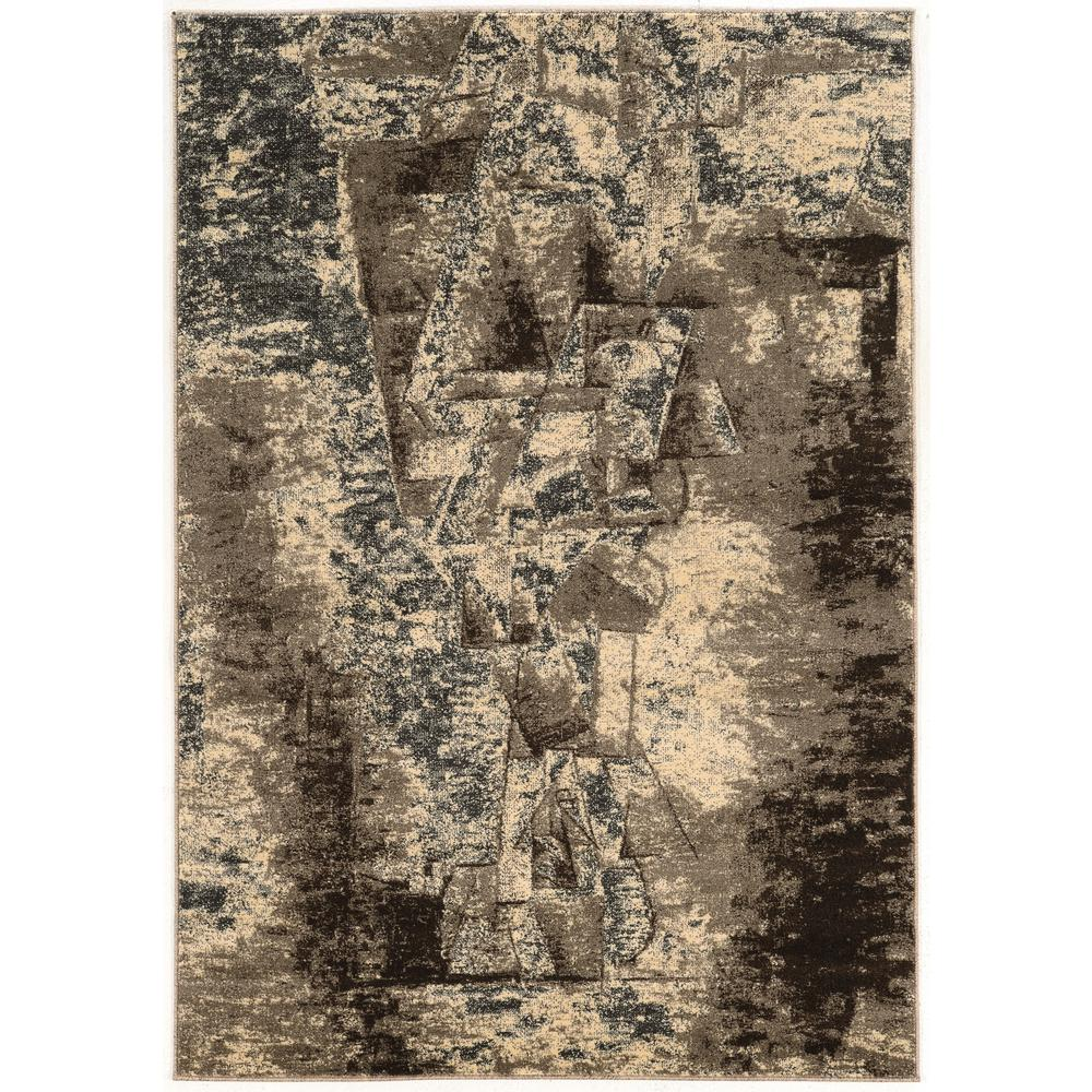 Linon Home Decor Masters Man Grey And Taupe 5 Ft. X 8 Ft