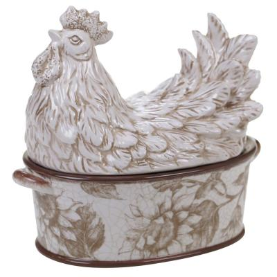 Toile Rooster 42 oz. 3-D Covered Bowl