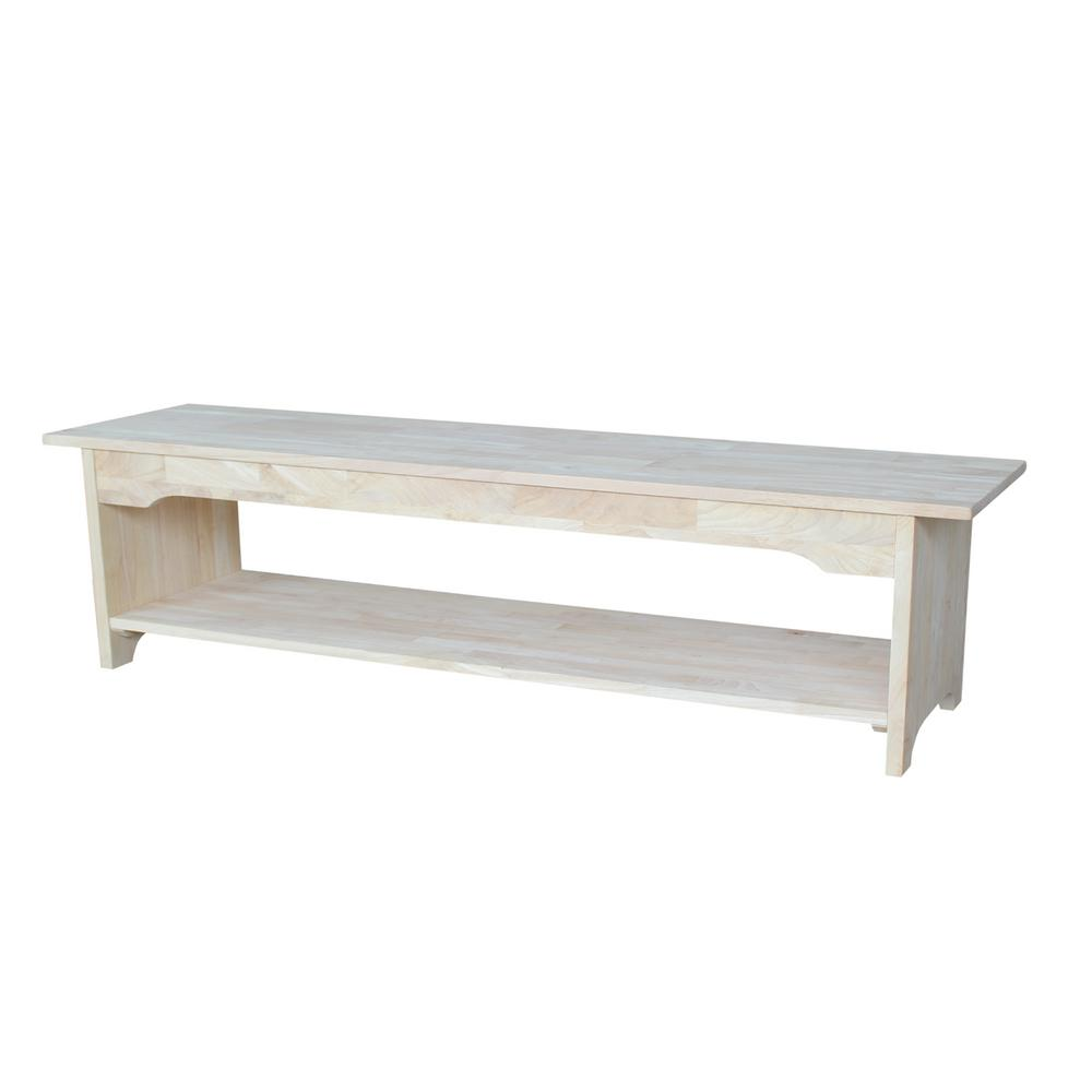 International concepts unfinished storage bench be 60 the home depot Home depot benches