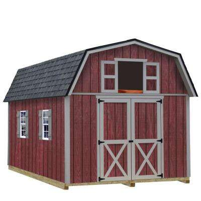 Woodville 10 ft. x 12 ft. Wood Storage Shed Kit with Floor Including 4 x 4 Runners