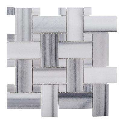 Camden 12 in. x 12 in. x 10 mm Marble Mosaic Tile
