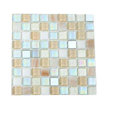 Capriccio Collegno Glass Mosaic Floor and Wall Tile - 3 in. x 6 in. x 8 mm Tile Sample