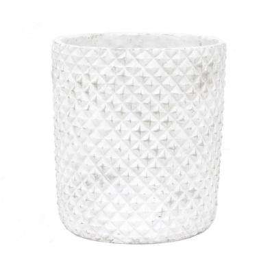 White Flower Pot